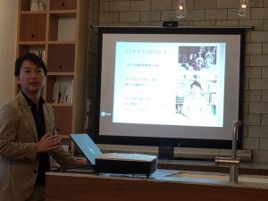 リノベーションについてのミニ講座を開催。地方リノベの魅力についてお話ししました