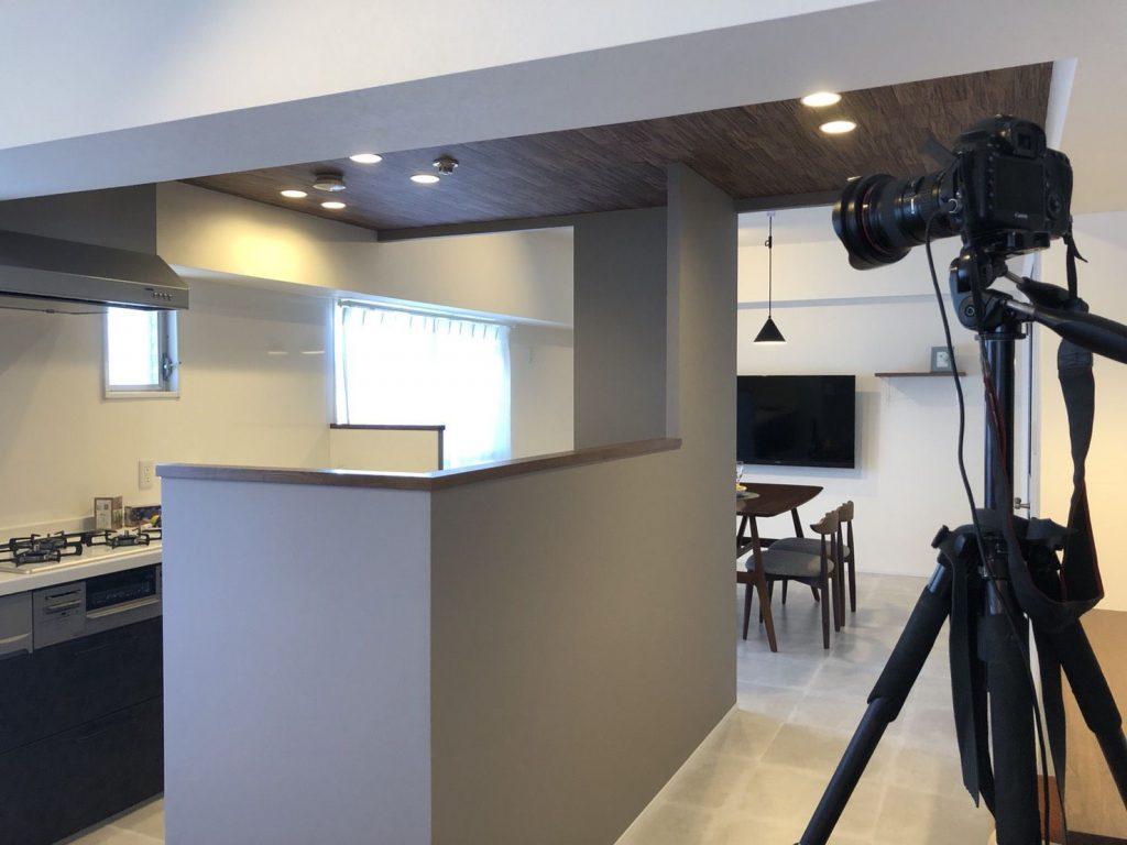 豊橋市のマンションリノベーションで完成後に事例撮影を実施しました。