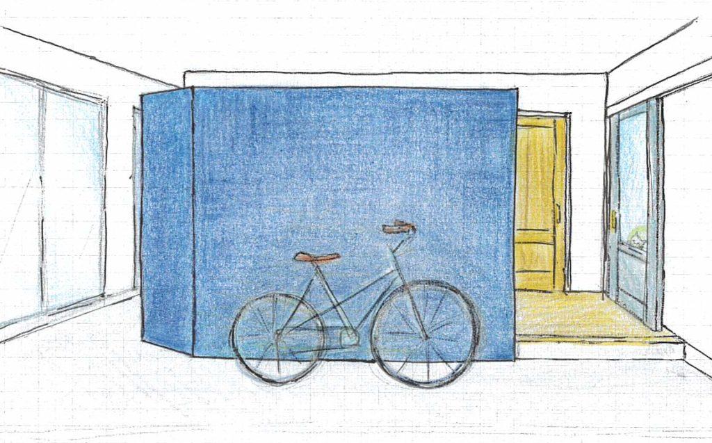 土間に自転車、マンションリノベで夢実現!